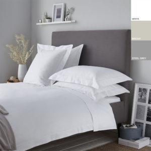200TC 100% Cotton Percale Oxford Duvet Cover Set