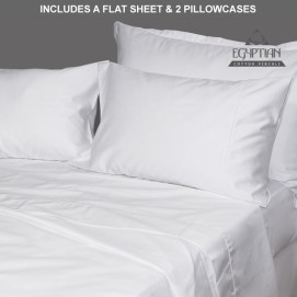 Egyptian Cotton Knife Pleat Sheeting Set