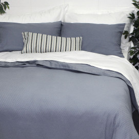 300TC Sloane Jacquard Duvet Cover Set Cornflower