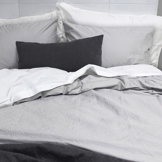 300TC Ghost Embroidered Duvet Cover Set