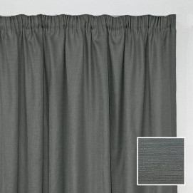 Georgia Taped Curtain Charcoal