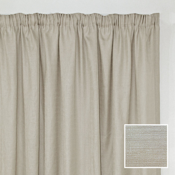 Georgia Taped Curtain Cream