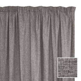Manhattan Taped Curtain Charcoal