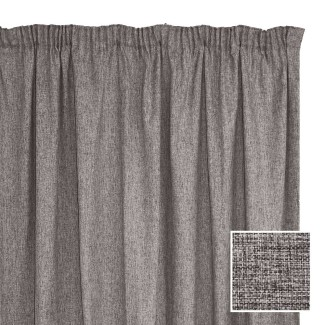 Manhattan Taped Curtain Charcoal