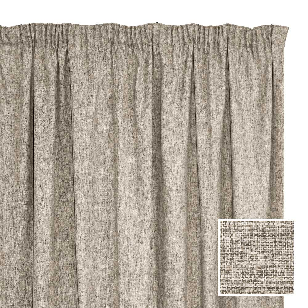 Sheraton manhattan taped curtain stone 2 sizes for Bed linen sizes south africa
