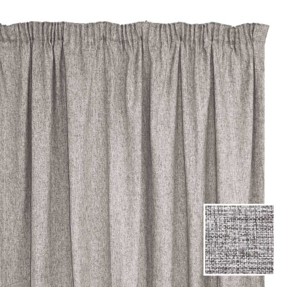 Manhattan Taped Curtain Silver