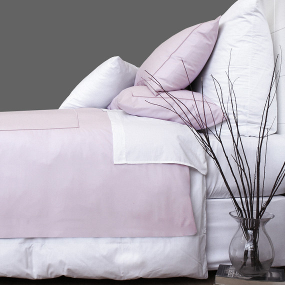Satin Square Duvet Cover Set Blush