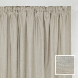 Sheraton Georgia Taped Curtain Natural - 2 Sizes