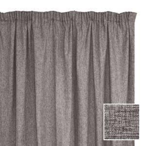 Sheraton Manhattan Taped Curtain Charcoal - 2 Sizes