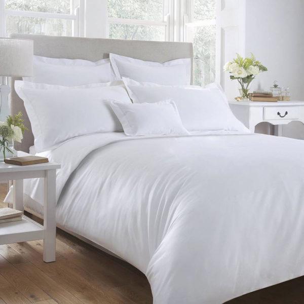 Sheraton White 400TC Oxford Egyptian Cotton Duvet Cover Set