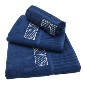 Colibri Embroidered Towel Set York Navy