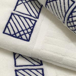 Colibri Embroidered Towel Set York Cream
